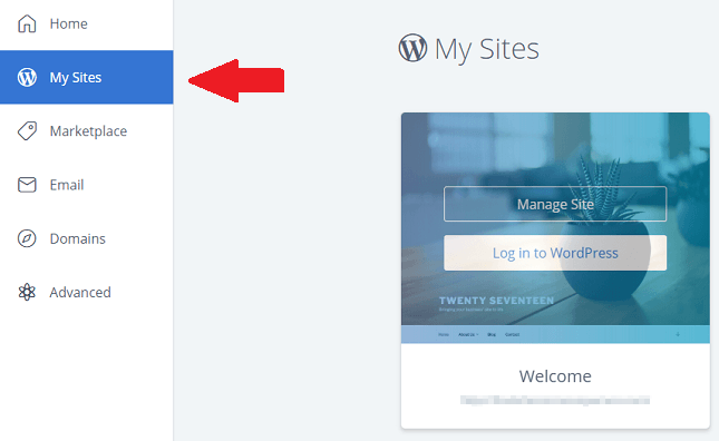 BlueHost Install WordPress