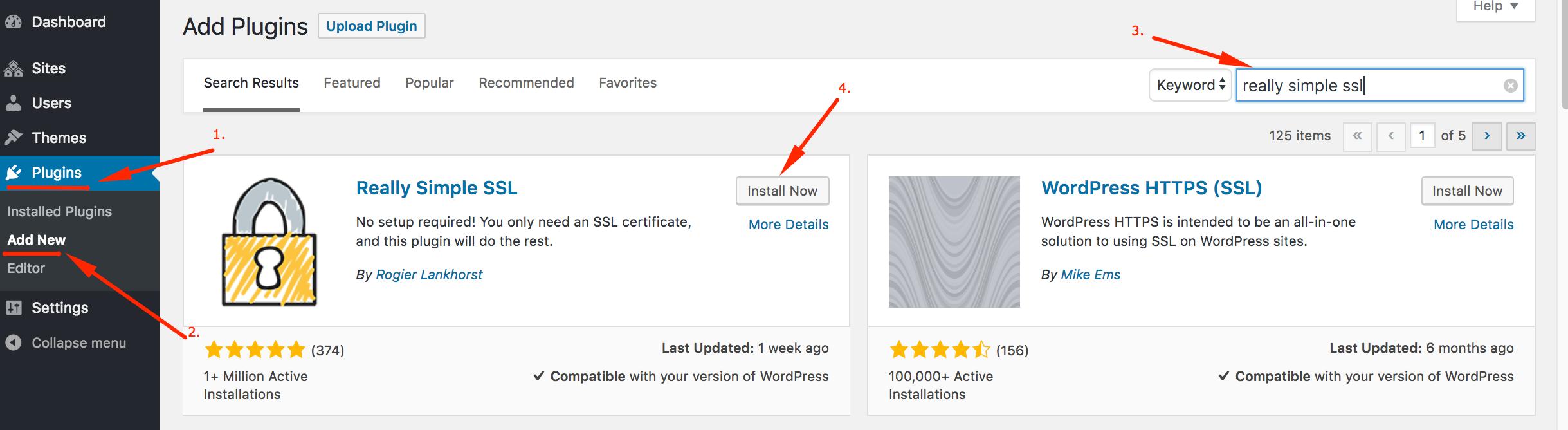 Install Really Simple SSL on WordPress